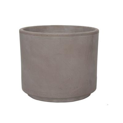 Γλάστρα Πήλινη  Vaso Cilindro Greige N15 Degrea