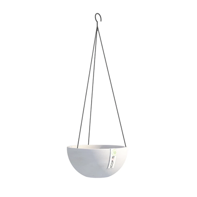 Γλάστρα Hanging Brussels White Grey Ecopots