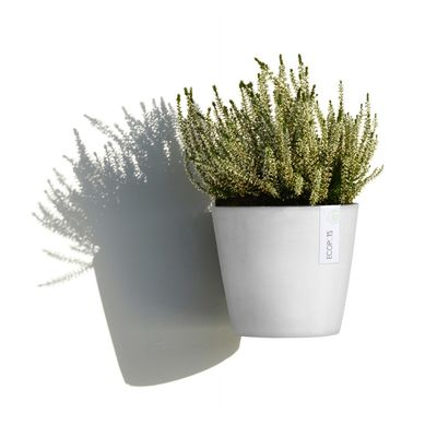 Γλάστρα Amsterdam Wall White-Grey Ecopots