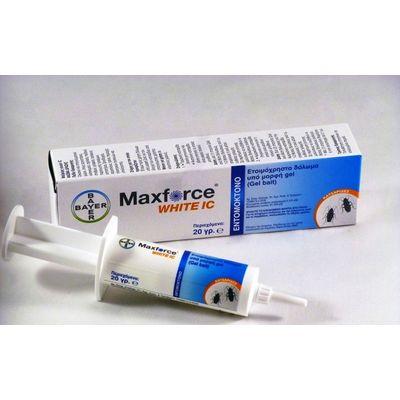 Τζελ Καταπολέμησης Κατσαρίδων Maxforce White IC 20 gr Bayer