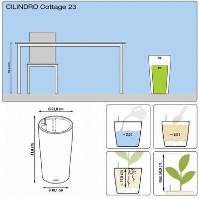 Αυτοποτιζόμενη Γλάστρα Cilindro 23 Lechuza Άσπρο