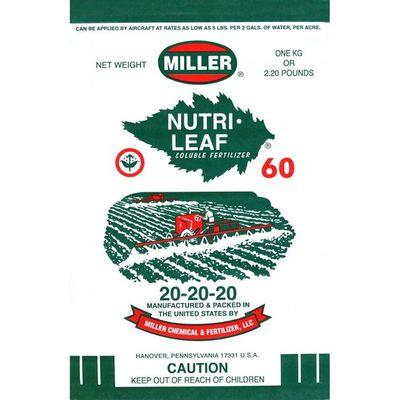 Κρυσταλλικό Λίπασμα Γενικής Χρήσης 20-20-20 Nutrileaf Miller 1kg